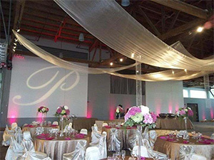 Wedding venue set up at the downtown Renton Pavilion Event Center